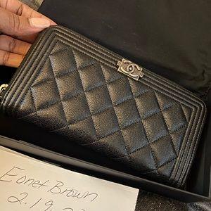 Chanel Boy ZIP Around Wallet